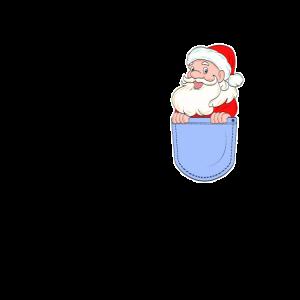 Weihnachtsmann Brusttasche Geschenk Santa Cartoon