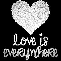 Glitzer Herz Liebe ist überall