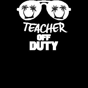 Entspannender Lehrer erhalten Ruhe-Familien-Ferien-Hemd