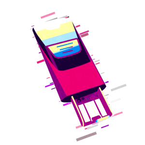 USB Flash-Speicher 80er Retro Violett
