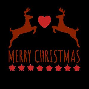 MERRY CHRISTMAS | Reindeer Heart Stars