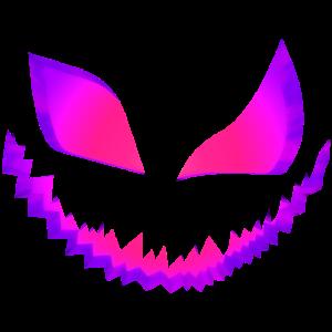 Böses Kürbis Gesicht Blick Teufelsgesicht