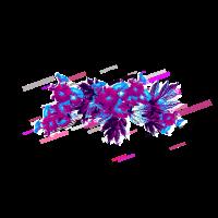 Petunien Blätter 80er Retro Violett