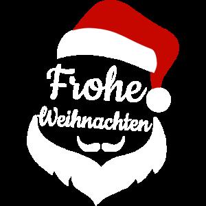 Frohe Weihnachten | Weihnachtsmann Mütze Bart