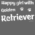 Happy girl with Golden Retriever