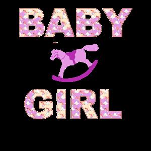 Baby Girl und ein Schaukelpferd Mädchen Design