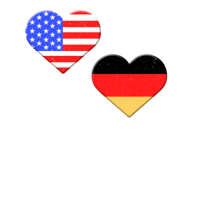 Die große liebe Amerika & Deutschland Shirt