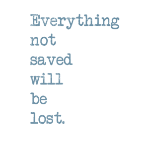 Everything not saved will be lost
