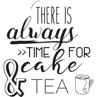 There is always time for cake and tea