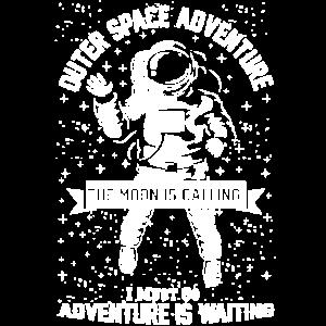 Astronaut auf dem Weg zum Mond Abenteuer Weltall