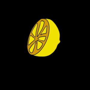 Zitrone, Obst, Zeichnung, Illustration