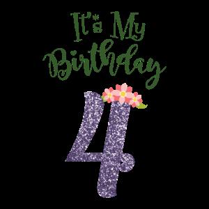 4. Geburtstag Mädchen - Geschenk 4. Jahre alt