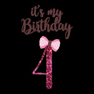 4. Geburtstag Mädchen Prinzessin Geschenk 4. Jahre