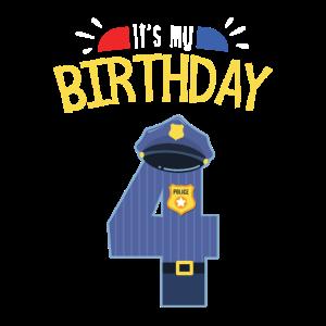 4. Geburtstag Junge Sohn Polizist Polizei Geschenk