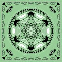 Metatrons Würfel Heilige Geometrie Symbol