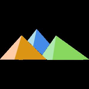 Drei Berge in drei Farben