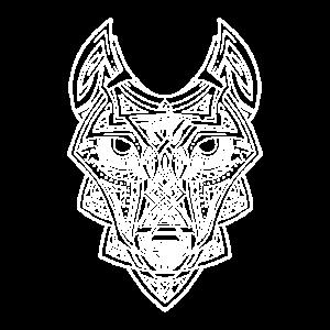 Celtic Wolf white