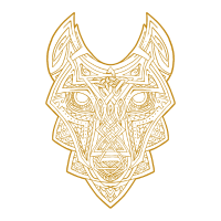Celtic Wolf gold