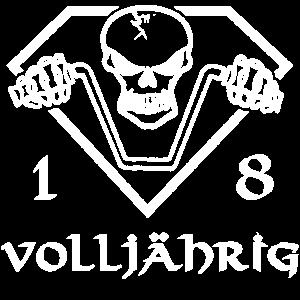 Geburtstag 18 Jahre Geschenk Totenkopf Rock Metal