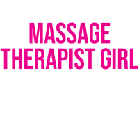 Lustiges kühles Massage-Therapeut-Mädchen-Geschenk-T-Shirt