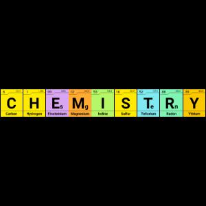 Chemie Schriftzug Elemente Periodensystem