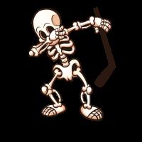 Hockey Dabbing Skelett
