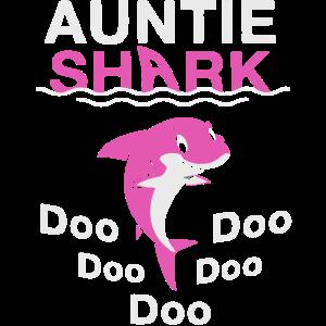 Lustiges Hemd des Tante Sharks