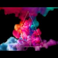 Bunter Rauch, Dreieck Motiv