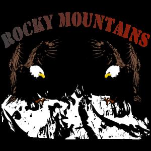 Rocky Mountains mit Adler