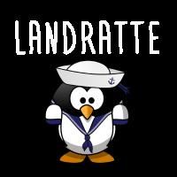 Landratte Pinguin Geschenk