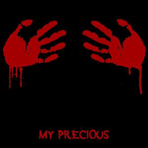 My Precious Halloween Blood Hand T Shirt