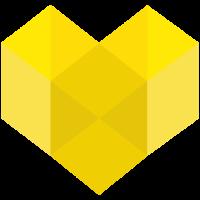 Herz Design gelb Geschenk