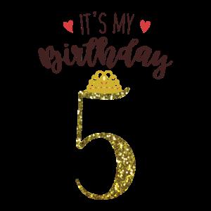 5. Geburtstag Mädchen Geschenk 5. Jahre Prinzessin