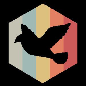 Taube, Vogel, Frieden, Symbol, Geschenkidee, Retro