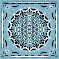 Blume des Lebens Heilige Geometrie Mandala Yoga