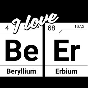 I love Beer Periodensystem Elemente Geschenk