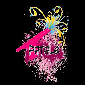 Pinke Pistole Fatal Farbe Kunst Klecks Leinwand