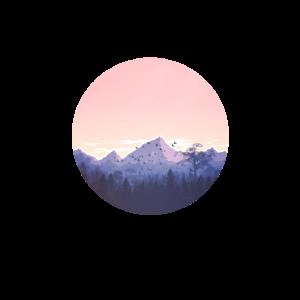Gebirge Panorama Berg Wald Sonnenuntergang Natur