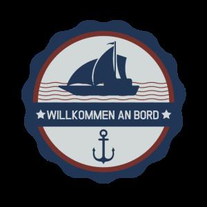 Nautik T-Shirt Willkommen an Bord Segeln Anker