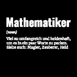 Mathematiker Rechnen Mathe Genie Held Geschenk