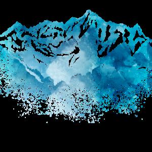 watercolor berge