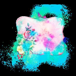 Etikette Aquarell farbenfroh
