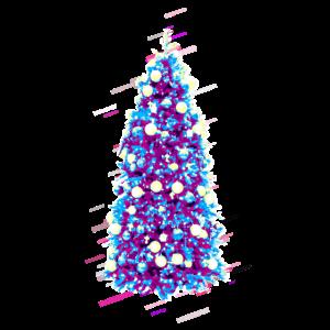 Weihnachten Weihnachtsbaum 80er Retro Violett