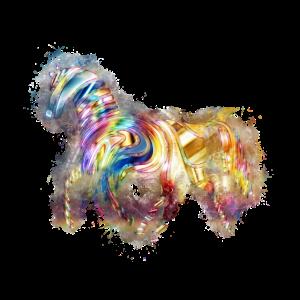 Pferd psychedelisch hell glühend