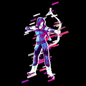 Elf Krieger 80er Retro Violett