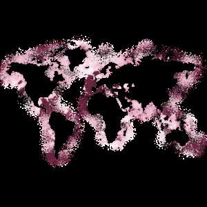 world map karte