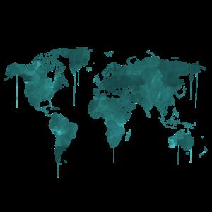 Weltkarte Watercolor Wasserfarbe