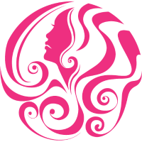 Pinker Haarschnitt