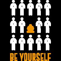 be yourself meditation shirt maenner frauen gift