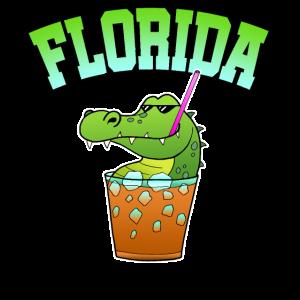Florida Alligaor Krokodil Cocktail Alkohol Urlaub